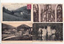 Lot 4 cartes postales anciennes DRÔME MARSANNE Fresneau 2