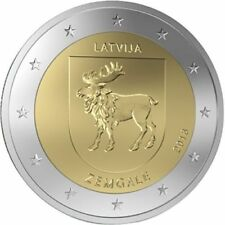 "LETONIA  2  EUROS   AÑO 2018  ""  REGION ZEMGALE "" UNC"