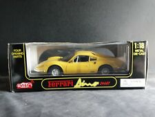Anson Ferrari Dino 246GT 1:18 Scale Diecast Model Car Canary Yellow 30301 Boxed