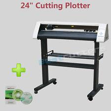 HQ 24'' Vinyl Cutter Cutting Plotter & Artcut & 2 Vinyl Rolls Kit for Starter