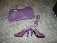 New Look-Damas emparejar zapatos taco alto púrpura bolsa de color que empareja Par De Boda