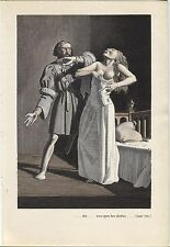 """Rockwell Kent """"...she tore open her clothes"""", The Decameron. Vintage 1949 print."""