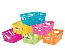Set of 6 Neon Storage Baskets w/ Handles for Arts Crafts ea. 11