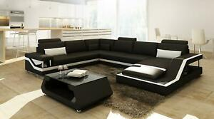 Designer Sofa Corner Interior Big Modern Leather + USB Patented New