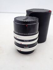 VIVITAR EXTENSION TUBE SET FOR CANON 12,20,36 AT-4 FL-FD BREECH LOCK WITH CASE