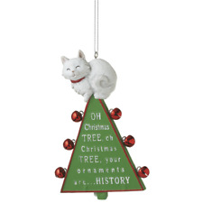"""Oh Christmas Tree"" Cat Ornament"