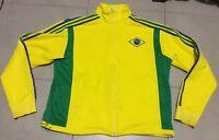 VTG Men's 2006 Adidas FIFA World Cup Sz XL Brazil Yellow Soccer Track Jacket