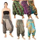 Womens Flowy Harem Boho Baggy Hippie Aladdin 2in1 Jumpsuit Trousers Pants