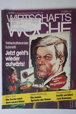 Wirtschaftswoche 52/1974 Helmut Schmidt Erotik VW Rudolf Leiding B3997