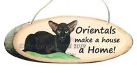 Oriental Cat Havana art painting sign from original by Suzanne Le Good