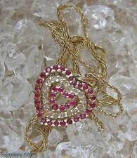 Rubincollier Diamantcollier Collier mit Rubin Rubine Diamanten in 585er Gold