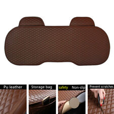 1pcs Car Parts Rear Seat Cover Brown PU Leather Pad Mat Chair Cushion Universal