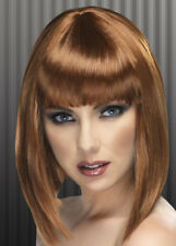 Ladies 20's Brown Blunt Bobbed Wig