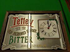 More details for tetley pub clock mirror. home pub. mancave