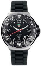 TAG Heuer Formula 1 Mens Black Dial Black Rubber Strap Watch WAC1110-0