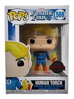Funko Pop Exclusive Human Torch 569 Fantastic Four Marvel Vinyl Figure New 45007