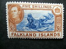 Falkland Islands. 1938/50. 5/-. SG 161c. Lightly Mounted Mint .