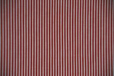 Cotton Quilt Fabric Christmas Red Stripe~1/2 Yard~Red & White