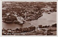 Aerial View, Menai Suspension Bridge, MENAI STRAITS, Isle Of Anglesey RP