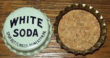White Soda Spur Vintage Unused Soda Pop Bottle Caps 1960's Cork Lined RARE Lid