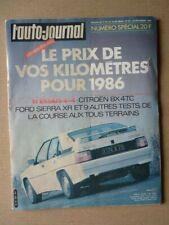 Auto-Journal No 22-85,Citroen Bx 4TC,Ford Sierra XR 4x4,Range Rover V8,Toyota