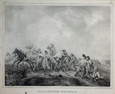 """Lithographie du XIXe siècle """"Der Zufriedene Jäger"""" (Le chasseur content)"""