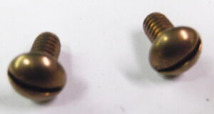 2 National Cash Register correct top sign mounting screws red brass  (bronze)
