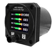 Mgl Avionics Tc 4 4 Channel Round Digital Gauge Type J Amp K Thermocouple