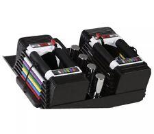 Powerblock Adjustable Dumbbells (PAIR) Personal Trainer Set. 5-50lbs. Brand New