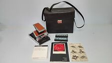 Vintage Polaroid SX-70 Land Camera w Instructions Manual Film Flash Case