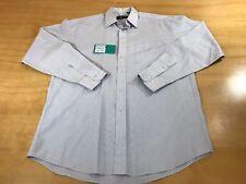 Dunhill Thin Pinstripe Mens Dress Shirt Light Blue Color Size 16 1/2 | 33 Formal