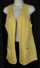 Vintage Marty Gutmacher Vest Duster Retro Rockabilly 50s 60s Gypsy Boho Yellow M