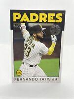 2021 Topps Series 1 FERNANDO TATIS JR. 1986 Topps Insert Padres #86B-100