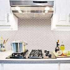 Home Bathroom Kitchen Wall Decor 3D Sticker Wallpaper Art Tile Bianco Backsplash