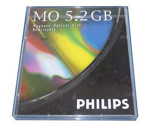 "Philips 5.25 "" 5.2GB MO DISK Optical Rewritable  Mac Format  #20"