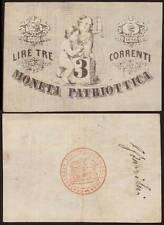 3 LIRE CORRENTI 1848 MONETA PATTRIOTTICA VENEZIA - FIRMA BARZILAI