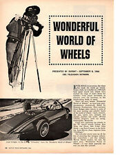 1966 WONDERFUL WORLD OF WHEELS TV SHOW WITH LLOYD BRIDGES ~ ORIGINAL ARTICLE