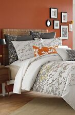 KAS AUSTRALIA PENNY WHITE CORAL TWIN DUVET COVER WHITE NATURE EMBROIDERED