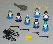 LEGO Minifigures 7 Aquanaut Divers People Army Spear Gun Shark Lego Minifigs