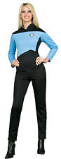 Womens X-Small Deluxe Star Trek Blue Jumpsuit Adult Costume - Star Trek the Next