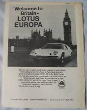 1969 Lotus Europa S2 Original advert