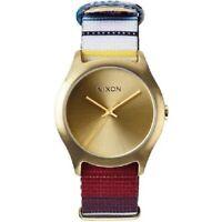 Nixon Mod Golden Blanket Tone Dial Women's Nylon Watch A3481685
