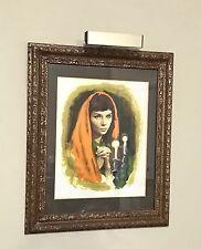 Vintage Signed Saudu Liberman Lithograph Beautifully Framed w/ Display Light