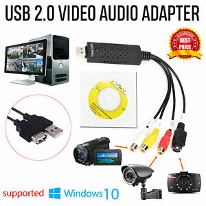 New USB 2.0 Audio TV Video VHS to PC DVD VCR Converter Easy Capture Card Adapter