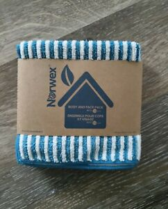 Norwex Gray And Teal Face&Body Cloths Pack Of 3