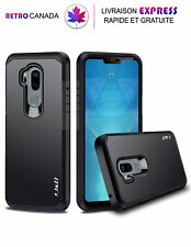 Etui, Coque pour LG G7 ThinQ, G7 [Double couche] Hybrid Antichoc ,Noir