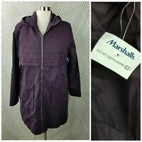 New Mondetta size XL Jacket Coat Long Full Zip hooded mid weight quilted Purple