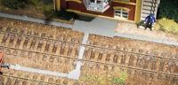 BNIB 41616 OO HO GAUGE CONCRETE CABLE TRUNKING KIT AUHAGEN 138cm Total