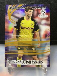 2017-18 TOPPS CHROME Christian Pulisic Dortmund Rookie Lighting Strike Gold /50