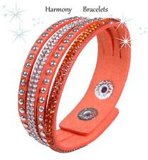 Orange Swarovski Elements Slim Bracelet by Harmony Bracelets